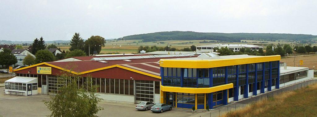 Ansicht vom Werksgelände der FALTO Leichtmetallbau GmbH & Co. KG